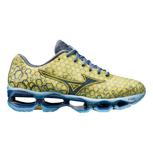 Womens Mizuno Wave Prophecy 3 Running Shoe - Yellow/Blue 9.5