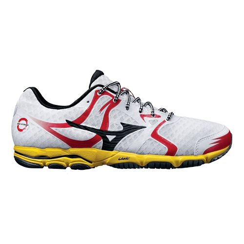 Mens Mizuno Wave Hitogami Running Shoe - White/Red 8.5