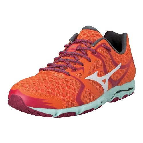 Womens Mizuno Wave Hitogami Running Shoe - Celosia/White 6