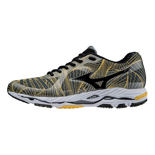 Mens Mizuno Wave Paradox Running Shoe - Charcoal/Yellow 12