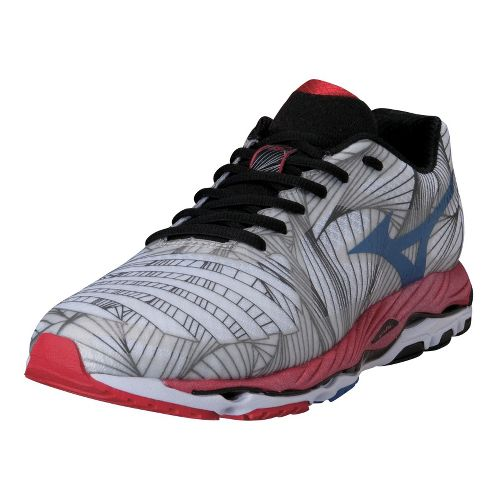 Mens Mizuno Wave Paradox Running Shoe - White/Red 11.5