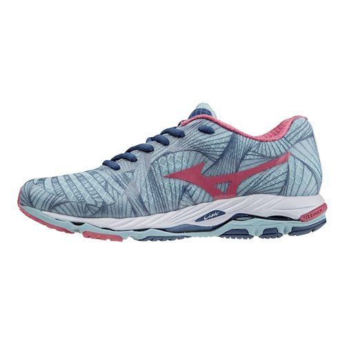Womens Mizuno Wave Paradox Running Shoe - Porcelain Blue/Pink 8.5