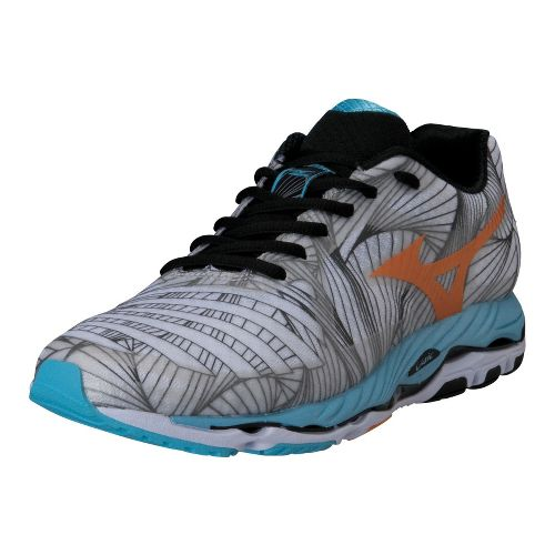 Womens Mizuno Wave Paradox Running Shoe - White/Blue 11.5