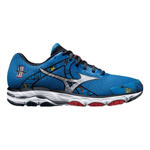 Mens Mizuno Wave Inspire 10 Running Shoe - Blue 10.5