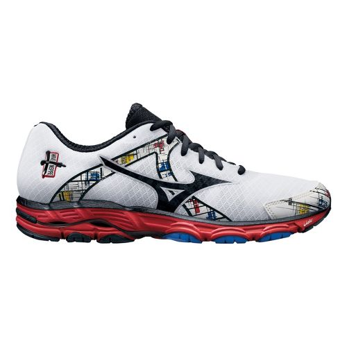 Mens Mizuno Wave Inspire 10 Running Shoe - White/Red 10.5