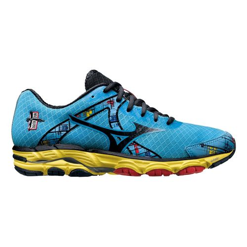 Womens Mizuno Wave Inspire 10 Running Shoe - Blue/Yellow 9.5