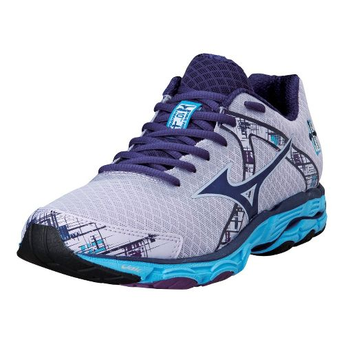 Womens Mizuno Wave Inspire 10 Running Shoe - Orchid Hush/Blue Depths 8.5