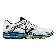 Womens Mizuno Wave Inspire 10 Running Shoe - White/Blue 6