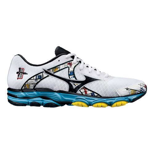 Womens Mizuno Wave Inspire 10 Running Shoe - White/Blue 10.5