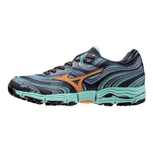 Womens Mizuno Wave Kazan Trail Running Shoe - Grey/Florida Keys 10