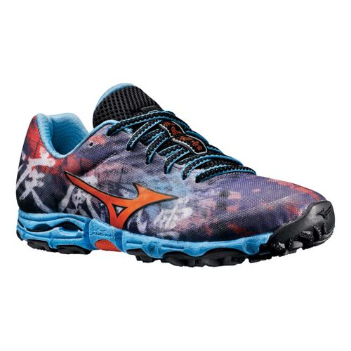 Womens Mizuno Wave Hayate Trail Running Shoe - Purple/Blue 6.5