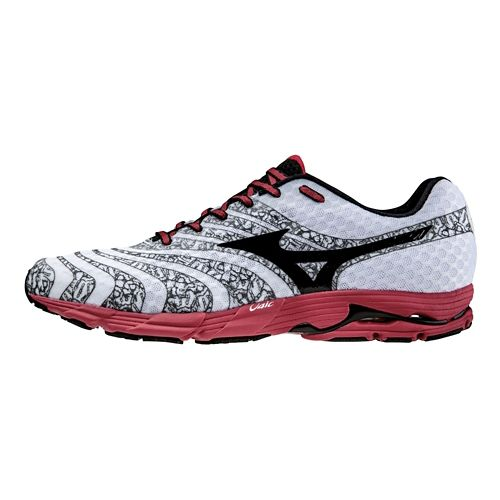 Mens Mizuno Wave Sayonara 2 Running Shoe - White/Black 12.5