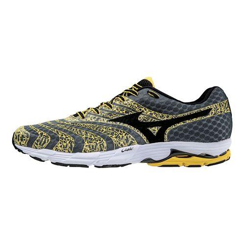 Mens Mizuno Wave Sayonara 2 Running Shoe - Yellow/Charcoal 7.5