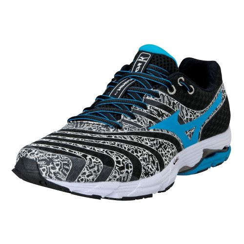 Mens Mizuno Wave Sayonara 2 Running Shoe - Black/White 9.5
