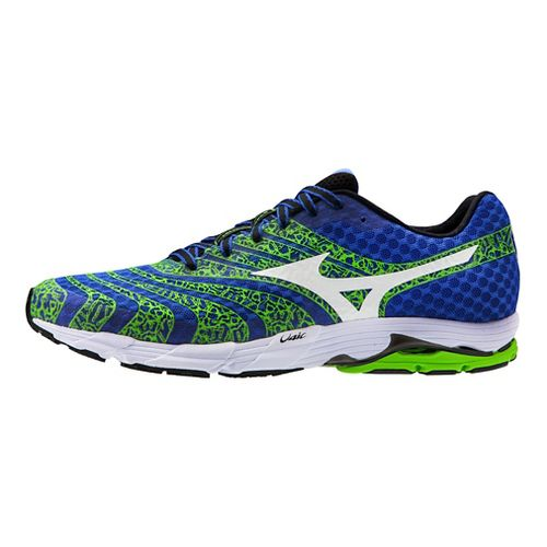 Mens Mizuno Wave Sayonara 2 Running Shoe - Blue/Green 12.5