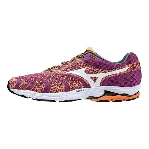 Womens Mizuno Wave Sayonara 2 Running Shoe - Berry/Orange 7.5