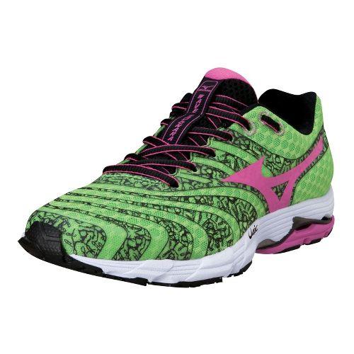 Womens Mizuno Wave Sayonara 2 Running Shoe - Green Flash/Electric 8