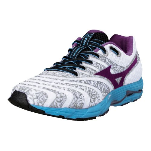 Womens Mizuno Wave Sayonara 2 Running Shoe - White/Black 9.5