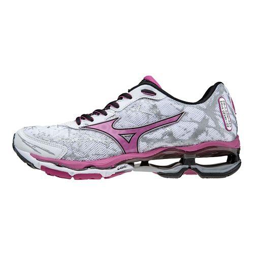 Womens Mizuno Wave Creation 16 Running Shoe - White/Pink 6.5