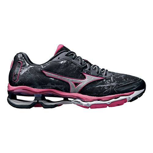 Womens Mizuno Wave Creation 16 Running Shoe - Black/Pink 7.5