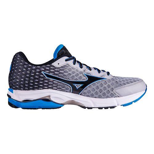Mens Mizuno Wave Rider 18 Running Shoe - Grey/Blue 7