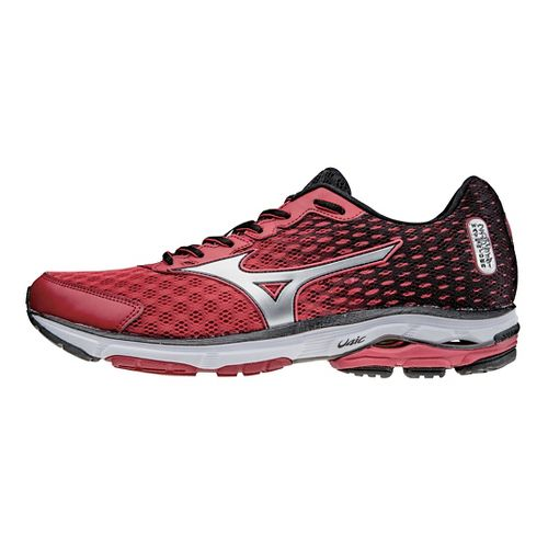 Mens Mizuno Wave Rider 18 Running Shoe - Red/Black 10
