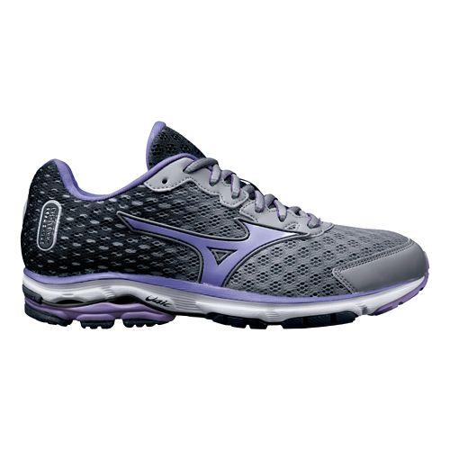 Womens Mizuno Wave Rider 18 Running Shoe - Grey/Purple 8