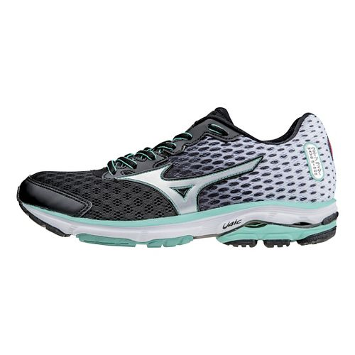 Womens Mizuno Wave Rider 18 Running Shoe - Black/Florida Keys 7.5