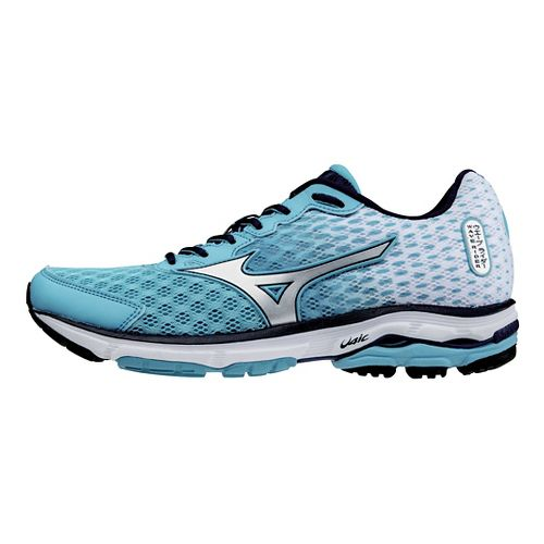 Womens Mizuno Wave Rider 18 Running Shoe - Blue/White 9