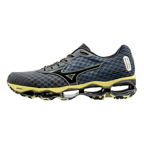 Mens Mizuno Wave Prophecy 4 Running Shoe - Charcoal/Yellow 15