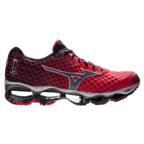 Mens Mizuno Wave Prophecy 4 Running Shoe - Red/Black 8.5