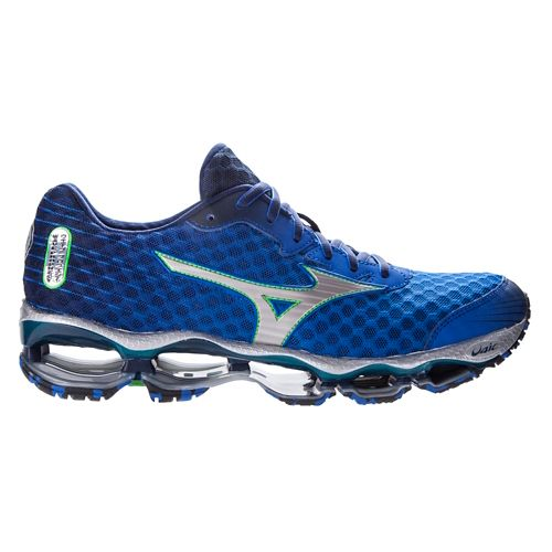 Mens Mizuno Wave Prophecy 4 Running Shoe - Blue 12.5