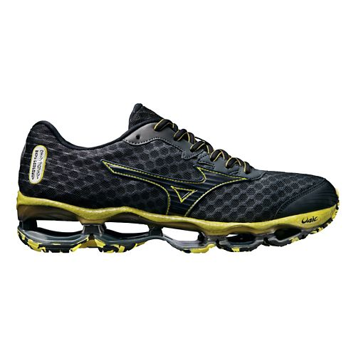 Mens Mizuno Wave Prophecy 4 Running Shoe - Charcoal/Yellow 10.5