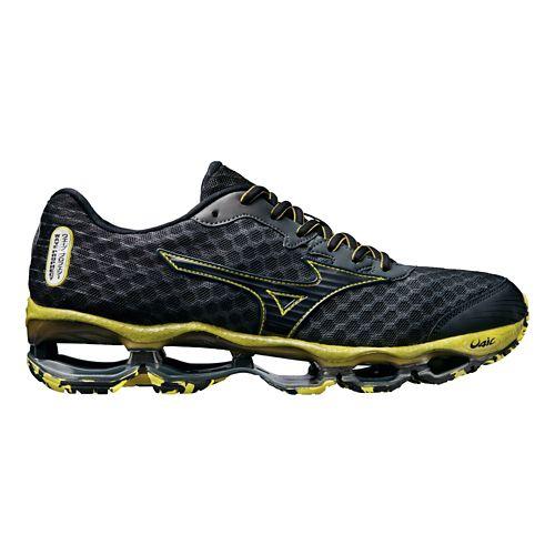 Mens Mizuno Wave Prophecy 4 Running Shoe - Charcoal/Yellow 9.5