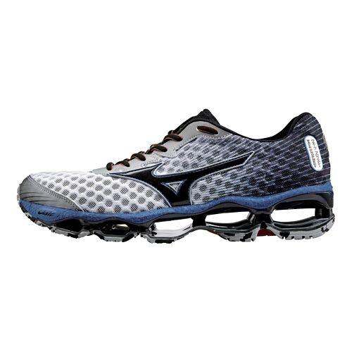 Mens Mizuno Wave Prophecy 4 Running Shoe - White/Blue 10.5
