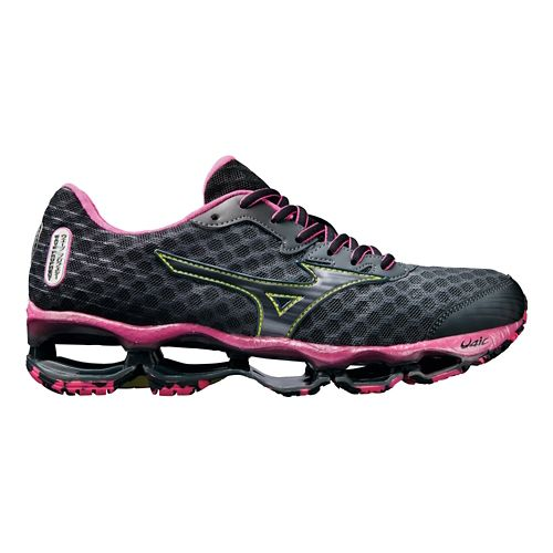 Womens Mizuno Wave Prophecy 4 Running Shoe - Charcoal/Pink 8.5