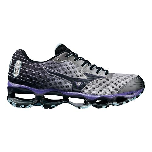 Womens Mizuno Wave Prophecy 4 Running Shoe - White/Lavender 10