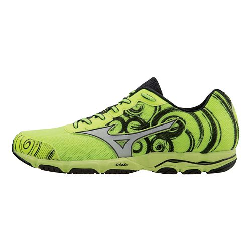 Mens Mizuno Wave Hitogami 2 Running Shoe - Neon Yellow/Silver 13
