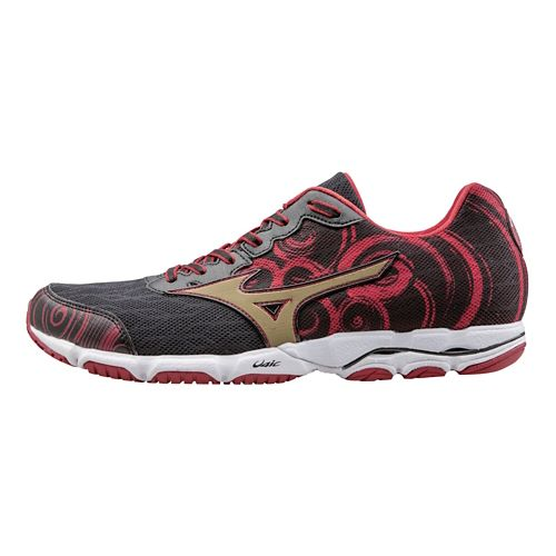 Mens Mizuno Wave Hitogami 2 Running Shoe - Black/Red 7.5