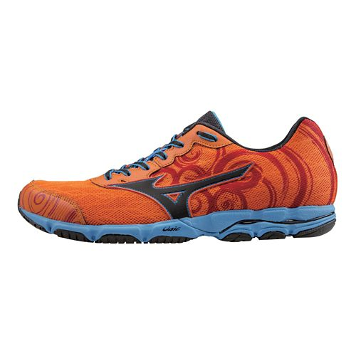 Mens Mizuno Wave Hitogami 2 Running Shoe - Orange/Blue 10.5