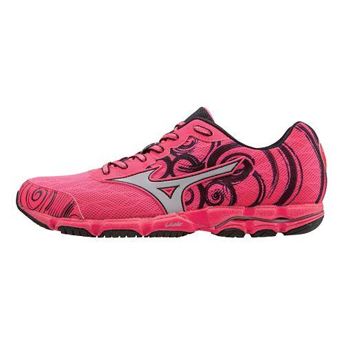Womens Mizuno Wave Hitogami 2 Running Shoe - Neon Pink/Silver 6.5