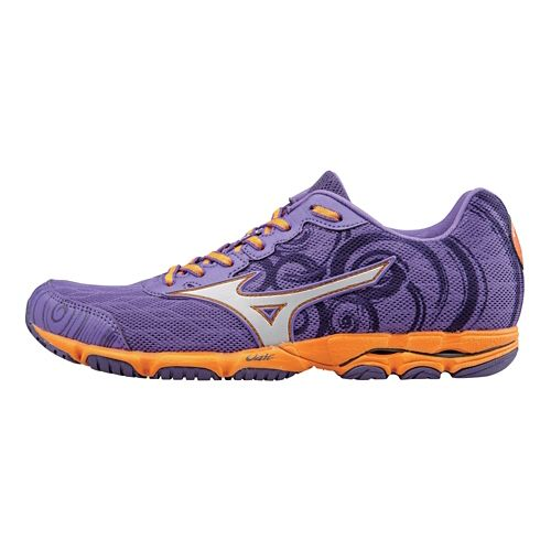 Womens Mizuno Wave Hitogami 2 Running Shoe - Deep Lavender/Silver 6.5