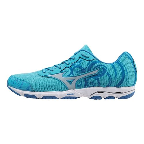 Womens Mizuno Wave Hitogami 2 Running Shoe - Blue 9.5