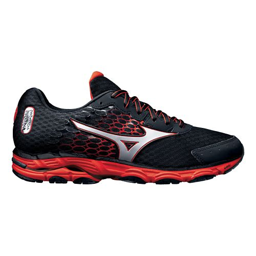 Mens Mizuno Wave Inspire 11 Running Shoe - Black/Orange 12.5