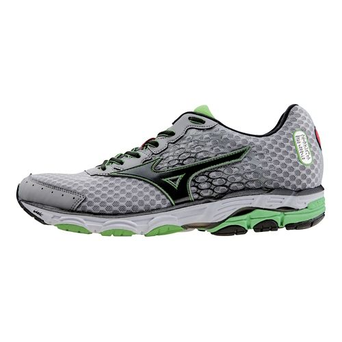Mens Mizuno Wave Inspire 11 Running Shoe - Silver/Green 7
