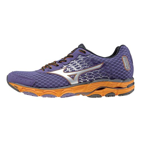 Mens Mizuno Wave Inspire 11 Running Shoe - Purple/Silver 11.5