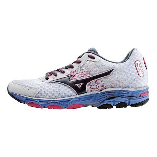 Womens Mizuno Wave Inspire 11 Running Shoe - White/Turbulence 10
