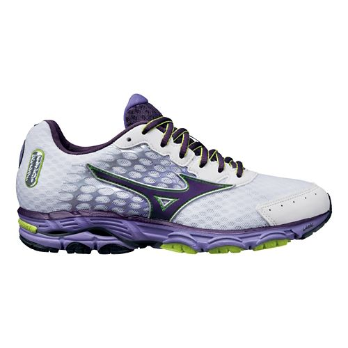 Womens Mizuno Wave Inspire 11 Running Shoe - White/Purple 6