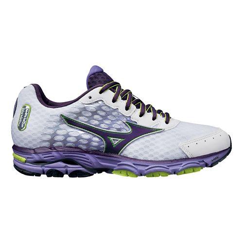 Womens Mizuno Wave Inspire 11 Running Shoe - White/Purple 7