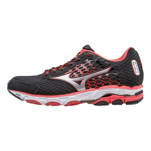 Womens Mizuno Wave Inspire 11 Running Shoe - Black/Cayenne 10